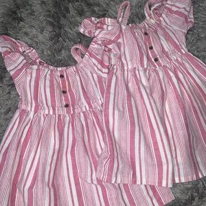 Old Navy Pink & White striped dress
